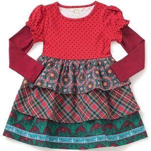 NIB MATILDA JANE JOLLY HOLIDAY TIERED RUFFLE DRESS